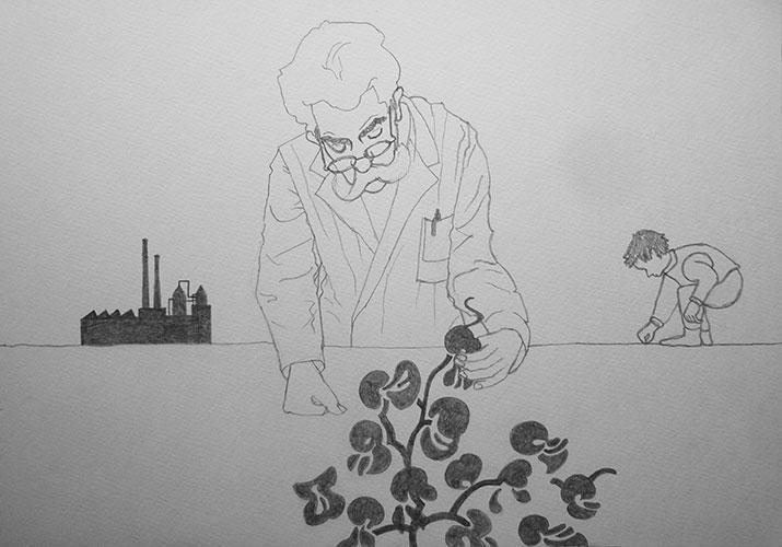 Jet Altenburg, Dokter, grafiet op papier, 26,2 x 36,8 cm, € 100,-