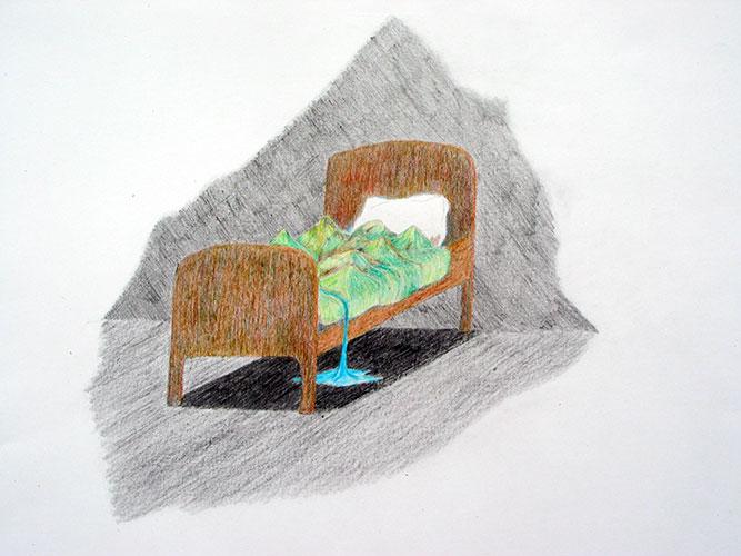 Esther van Casteren, z.t., kleurpotlood op papier, 29,7 x 42 cm, € 300,-