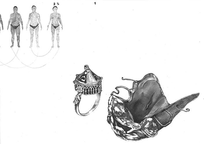 Martijn Dijksma, Alphabet drawing: Embodiment #1, potlood op papier, 30 x 42 cm, € 511,-