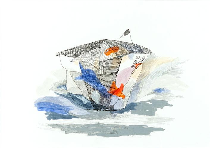 Maja Badnjevic, Growing Series #7, inkt, grafiet, marker op papier, 30 x 42 cm, € 495,-