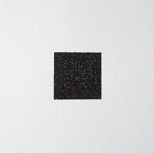 Lisa de Goey, 1 uur I, oostindische inkt op papier, 20 x 20 cm, € 95,-
