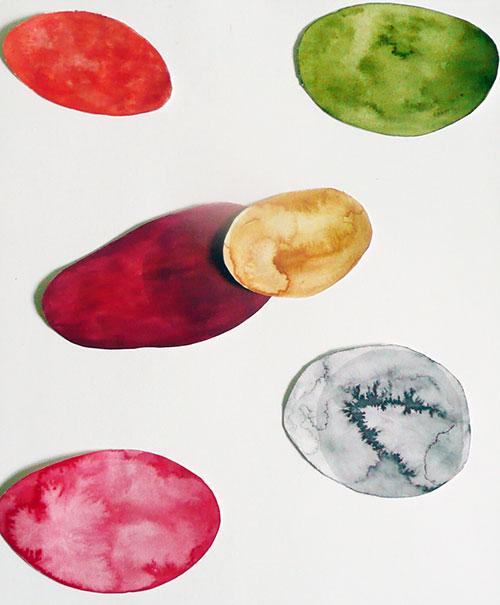 Ilona Hakvoort, z.t., waterverf, lijm, papier, 29,5 x 24,8 cm, € 120,-