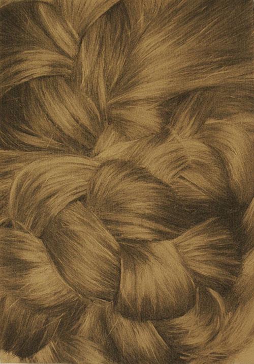 Ingrid Berger, Control, houtskool op papier, 42 x 30 cm, € 400,-