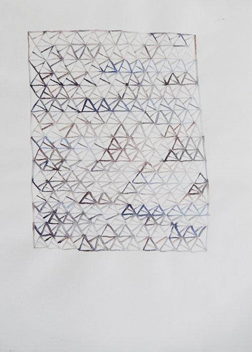 Vera Nievelstein, Zeshoek 22, aquarel op papier, 29,7 x 21 cm, € 150,-
