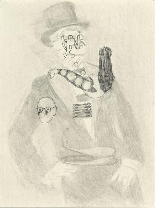 Jos van der Sommen, Peru Ponga, potlood op papier, 32 x 24 cm, € 500,-