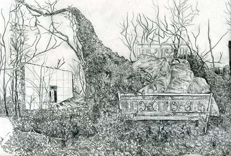 Gam Bodenhausen, z.t., potlood op papier, 24 x 32 cm, € 550,-