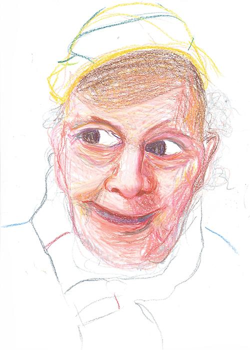 Debbie Voerman, The Bomb, waxpastel op papier, 29,7 x 21 cm, € 400,-