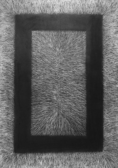 Karin Rianne Westendorp, Rectangle, houtskool getekend met gum, 42 x 29,7 cm, € 365,-