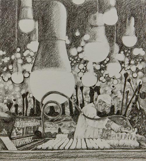 Helene de Winter, z t., potlood op papier, 32 x 29 cm, € 550,-