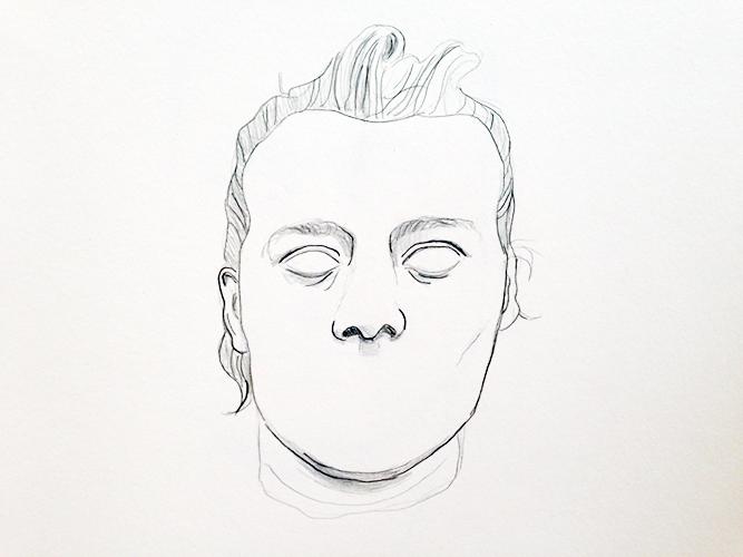 Frieda de Witte, Human, potlood op papier, 25 x 25 cm, € 350,-