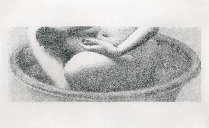 Margo van Berkum, z.t., potlood op papier, 12,7 x 21,7 cm, € 625,-