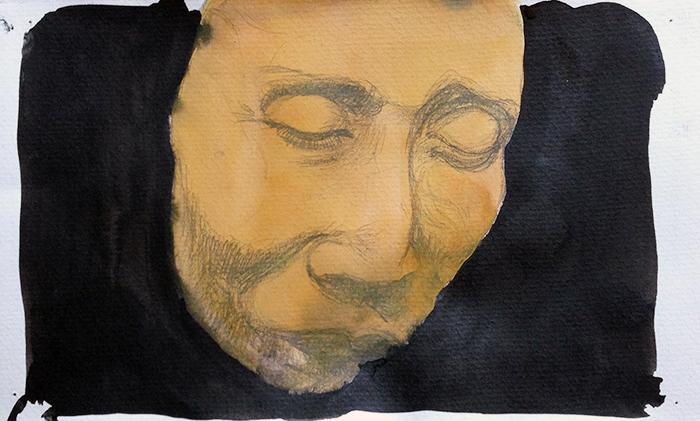 Marike Hoekstra, z.t., gemengde technieken op papier, 15 x 25 cm, € 200,-