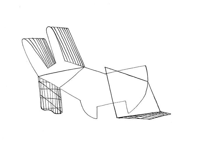Bernard Divendal, z.t., inkt op papier, 21 x 29,7 cm, € 350,-
