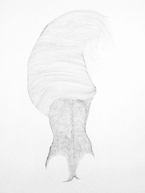 Sarah Linde, Beharing, potlood op papier, 40 x 25 cm, € 350,-