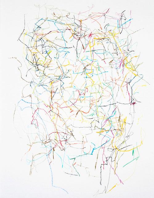 Arjan van Es, z.t., potlood en krijt op papier, 38,5 x 29,5 cm, € 295,-
