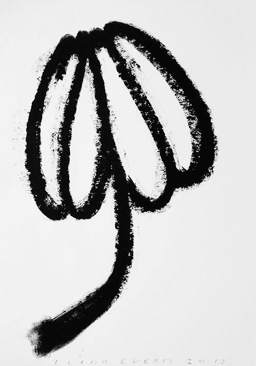 Alida Everts, z.t., oliestick op papier, 42 x 30 cm, € 600,-