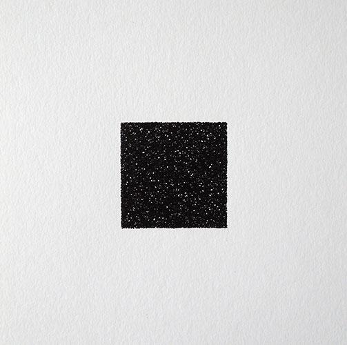 Lisa de Goey, 1 uur II, oostindische inkt op papier, 20 x 20 cm, € 95,-