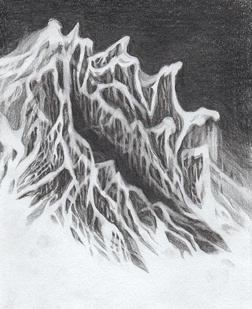 Boukje van Iperen, z.t., grafiet op papier, 20 x 17 cm, € 130,-