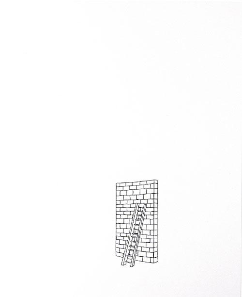 Annelinde de Jong, z.t., inkt op papier, 29,7 x 21 cm, € 380,-