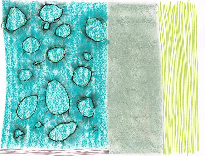 Christien Kroon, z.t., gemengde techniek op papier, 24,9 x 32,3 cm, € 425,-
