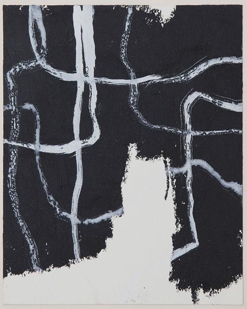 Rudy Lanjouw, z.t., gemengde techniek op papier, 25 x 20 cm, € 300,-