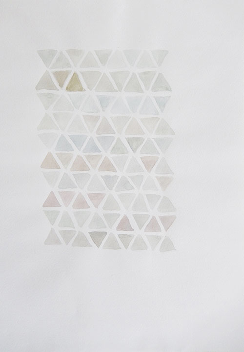 Vera Nievelstein, Zeshoek 23, aquarel op papier, 29,7 x 21 cm, € 150,-