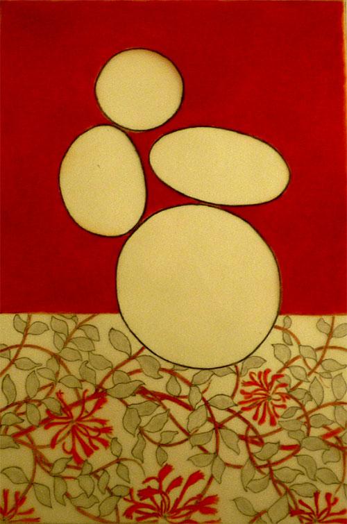 Margherita Pianarosa, z.t., oilbar, kleurpotlood op transparant papier + Arches papier, 42 x 29 cm, € 300,-