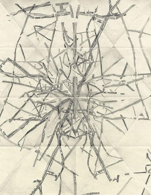 Stefanie Scholte, z.t., grafiet op papier, 31 x 24,5 cm, € 480,-