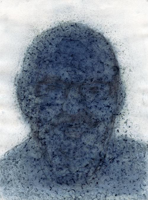 Meinbert Gozewijn van Soest, I.M. Pjotr van Oorschot, potlood en Indigo op papier, 40 x 30 cm, € 900,-