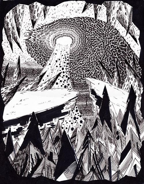 Eduard Bezembinder, z.t., marker op papier, 36 x 28 cm, € 350,-