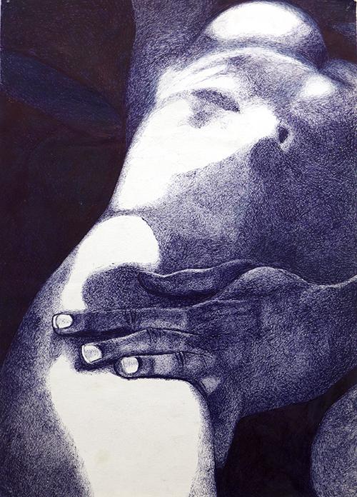 Daphne ter Wee, Shall I, BIC pen op papier, 40 x 30 cm, € 350,-