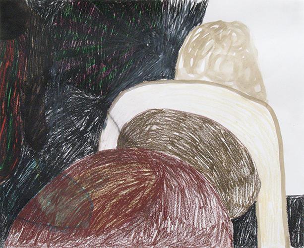 Heleen Wiemer, Korte dagen, potlood en gouache op papier, 29 x 36 cm, € 450,-