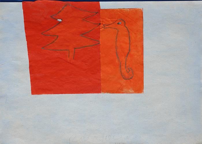 Rix Wierenga, XY, papier, acryl, potlood, 29,7 x 42 cm, € 625,-