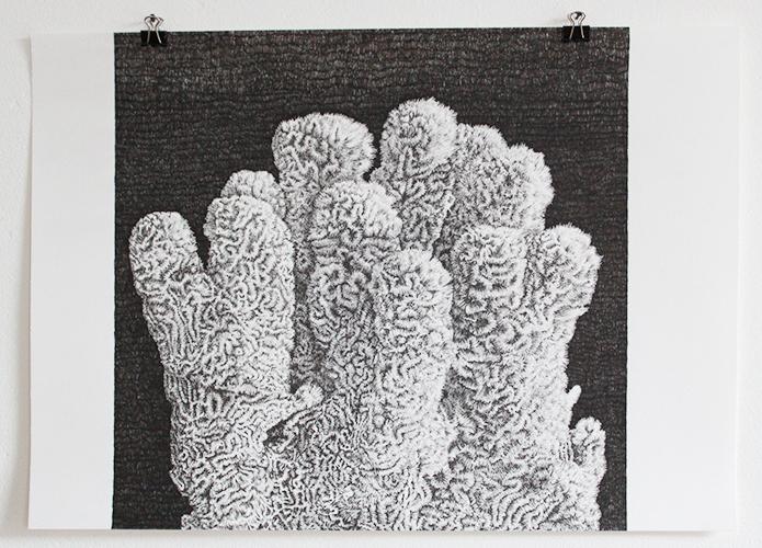 Leonard Witte, Koraal, pen op papier, 29,5 x 42 cm, € 700,-