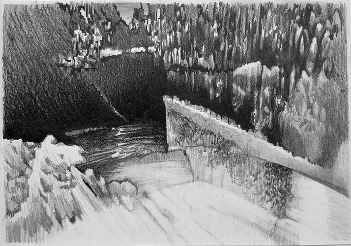 Cathelijn van Goor, Glitch 15, potlood op papier, 29,7 x 42 cm, € 750,-