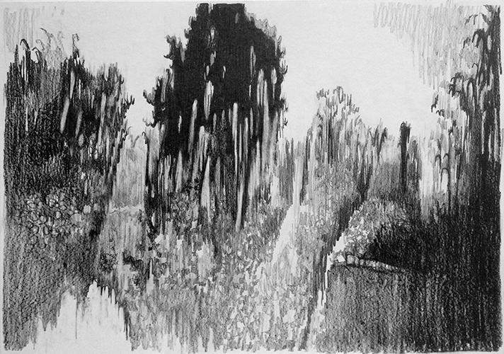 Cathelijn van Goor, Glitch 16, potlood op papier, 29,7 x 42 cm, € 750,-