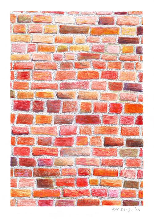 Rik Hagt, Gronings rood, kleurpotlood op papier, 21 x 14,5 cm, € 175,-