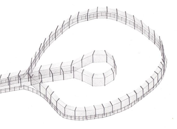 Maurice van Daalen - Hekwerk potlood op papier 21 x 29,7 cm € 265,-