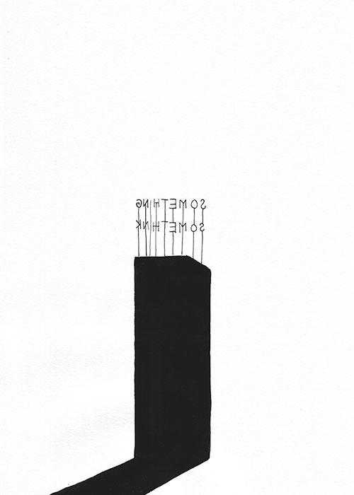 Annelinde de Jong - z.t. inkt en gouache op papier 29,7 x 21 cm € 380,-