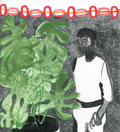 Astrid Oudheusden - Daily Drawing 14-8-14 gemengde techniek op papier 23 x 21 cm € 225,-