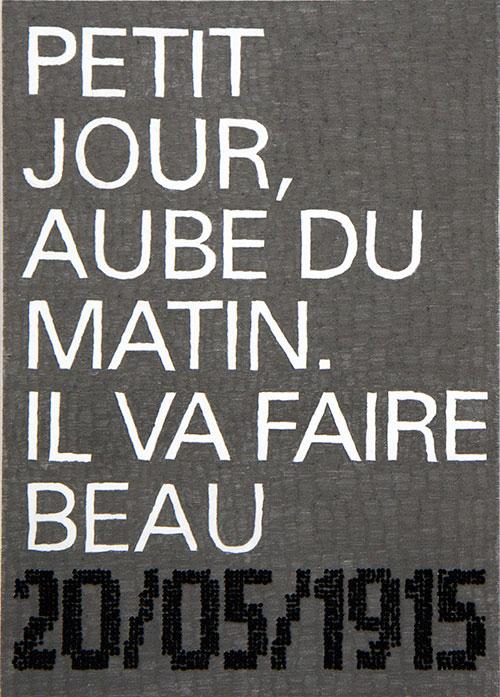 Balta - Temps de guerre (2) Albert Thierry potlood en garen op papier 29,7 x 21 cm € 475,-