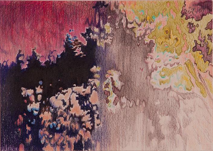 Cathelijn van Goor - Rare Digital Phenomena Color #2 Kleurpotlood op papier 29,7 x 42 cm € 700,-