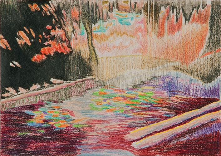 Cathelijn van Goor - Rare Digital Phenomena -color- #1 kleurpotlood op papier 29,7 x 42 cm € 700,-