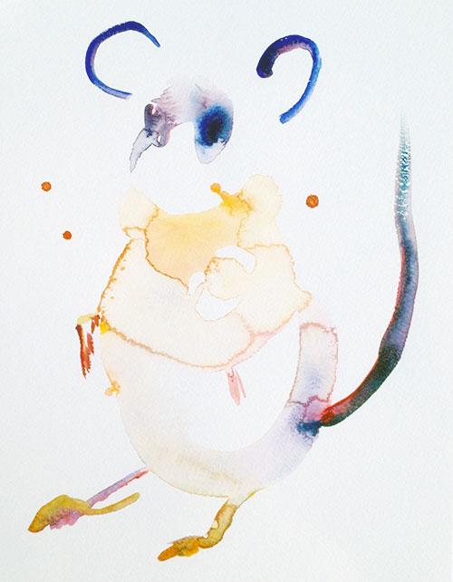 Edith Meijering - Mouse aquarel op papier 30 x 21 cm € 750,-