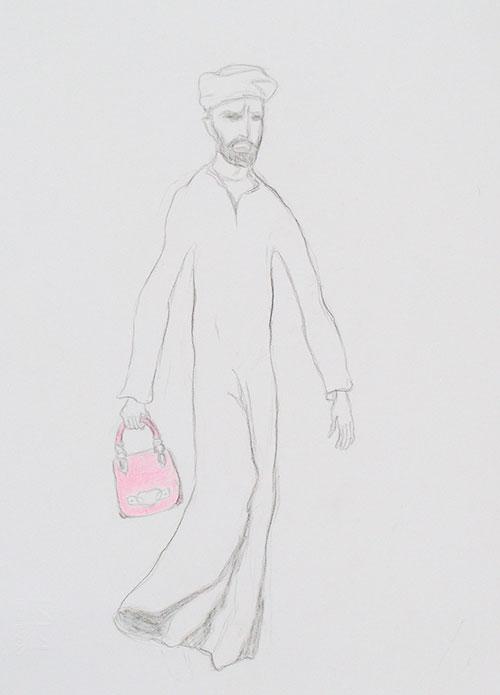 Gerdoen Kroes - Vergif krijt en kleurpotlood op papier 33 x 24 cm € 450,-