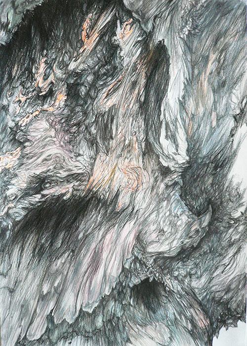 Hanneke-Francken-Intertwine-X,-potlood-op-papier,-42-x-29.7-cm,-2014