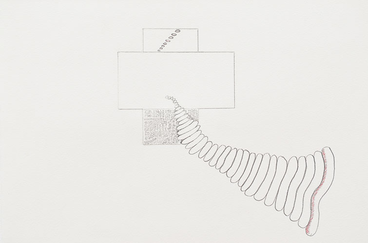Jaap de Klerk - z.t. potlood op papier 24 x 32,5 cm € 325,-