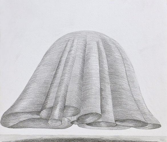 Jacqueline van den Bos - Hovering potlood op papier 30 x 35 cm € 400,-
