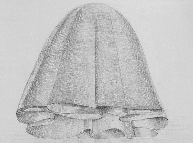 Jacqueline van den Bos - Opstijgen potlood op papier 30 x 35 cm € 400,-