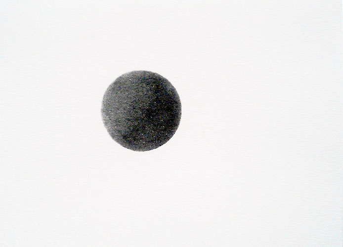 Janina Schipper - Turquoise Extra Dark Dot pastel op papier 11 x 15 cm € 135,-